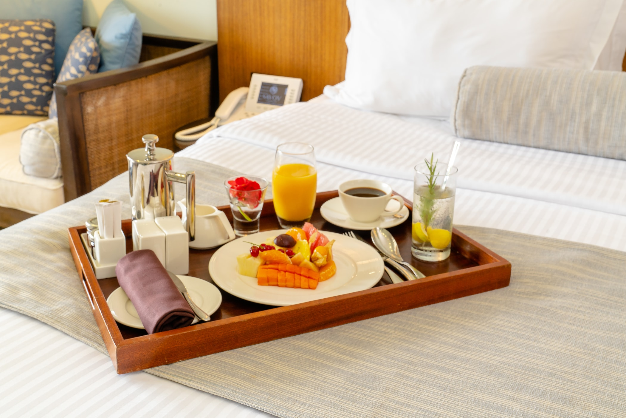 In Room Dining Service At Savoy Seychelles Resort Spa
